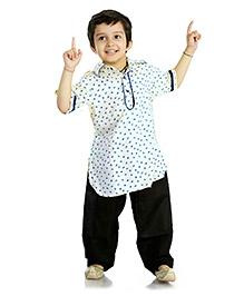 Little Pockets Store Stylish Pathani Sets - White