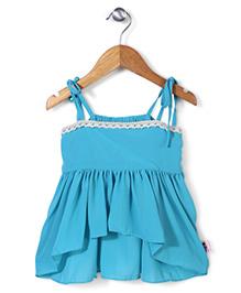 Chic Girls Singlet Dress - Blue