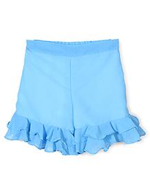 Chic Girls Pant Style Skirt - Aqua Blue