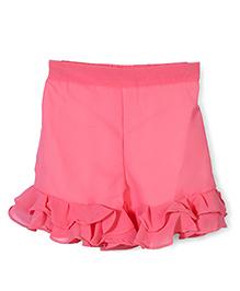 Chic Girls Pant Style Skirt - Peach