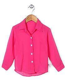 Chic Girls Casual Shirt - Hot Pink