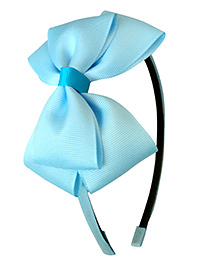 Keira's Pretties Bow Hair Band - Sky Blue