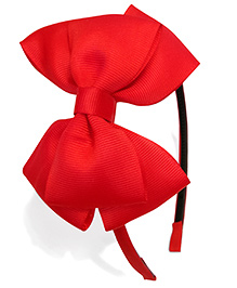 Keira's Pretties Bow Hair Band - Red