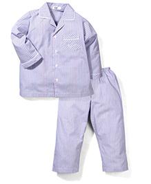 Enfant Striped Night Suit - Light Blue
