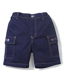Enfant Miniboy Print Shorts - Navy Blue