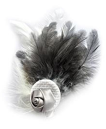 Pretty Ponytails Salt & Pepper Hair Clip - White Black Grey