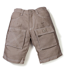 Enfant Stylish Casual Shorts -  Light Brown