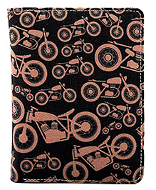 The Crazy Me  Motorcycle  Passport Wallet - Black & Brown