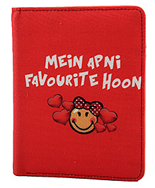 The Crazy Me Main Apni Favourite Passport Wallet - Red