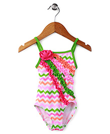 Milonee Cheveron Print Swimwear - Multicolor