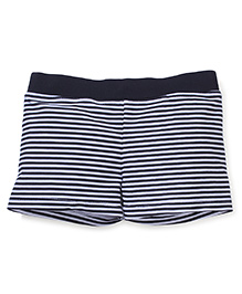 Milonee Stripe Swimming Trunk - Black and White