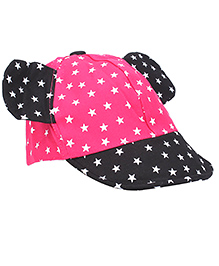 Milonee Cap With Stars And Minnie Ears - Pink and Black