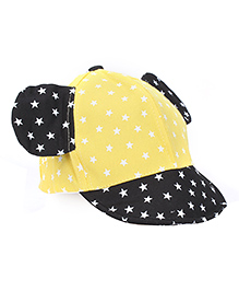 Milonee Cap With Stars And Black Minnie Ears - Yellow and Black