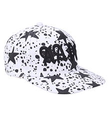 Milonee Big Star Print Cap - White and Black
