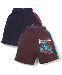 Doreme Casual Shorts Pack of 2 - Navy Brown