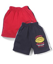 Doreme Casual Shorts Pack of 2 - Red Black