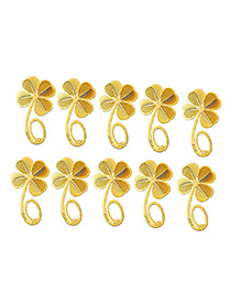 Studio Briana 18K Gold Plated Clover Metal Bookmark - 10 Pieces