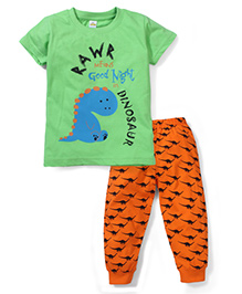 Tiny Bee Boys Tee & Pyjama Set - Green & Orange