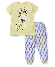 Tiny Bee Boys Tee & Pyjama Set - Yellow & Blue