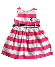 Tickles 4 U Summer Stripe Dress - Pink