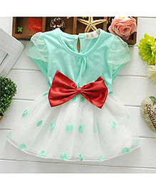 Pikaboo Mary's Party Wear Dress - Green