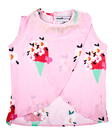 Masaba For Magic Fairy Ice Cream Truck Candy Floss Crop Top - Pink