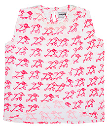 Masaba For Magic Fairy Twinkle Birdy Pops Sour Crop Top - Pink