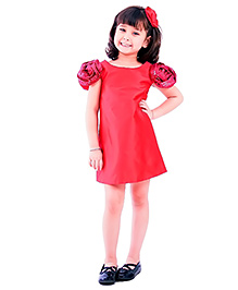 Kidology Rosy Cheek Dress - Fuchsia