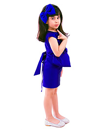 Kidology Audrey Half Bow Straight Dress - Blue