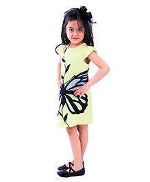 Kidology Butterfly Dress - Green & Black