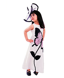 Kidology Butterfly A Line Dress - Off White