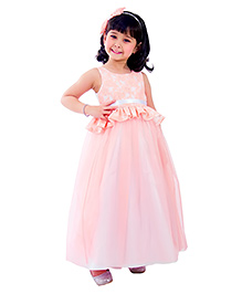 Kidology Marlyn Lace Gown - Peach