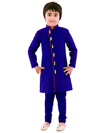 Kidology 3D Parrot Sherwani With Churidar - Royal Blue