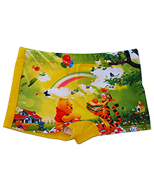 Kuddle Kids Cartoon Characters Swim Trunks - Yellow