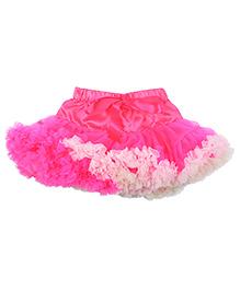 Kiwi Tutu Skirt With Ribbon Sash - Deep Pink