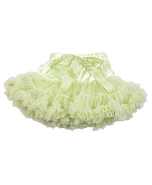 Kiwi Tutu Skirt With Ribbon Sash - Green