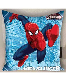 Marvel Athom Trendz Spider Man Cushion Cover - Blue And Red MAR-10-3-D64
