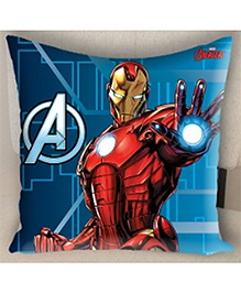 Marvel Athom Trendz Avengers Iron Man Filled Cushion With Cushion Cover - Blue