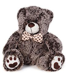 Starwalk Plush Teddy Bear With Bow Brown - 34 Cm