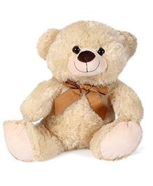 Starwalk Plush Teddy Bear With Ribbon Beige - 38 Cm