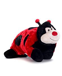 Starwalk Plush Ladybug Cushion - Black And Red