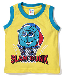 Tango Sleeveless T-Shirt Slam Dunk Print - Yellow