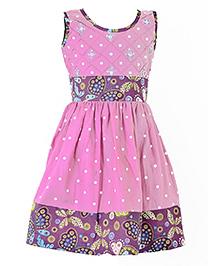 Marshmallow Butterfly Print Dress - Pink