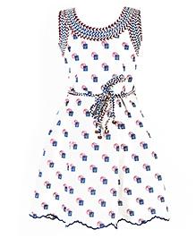 Marshmallow Printed Dress - White