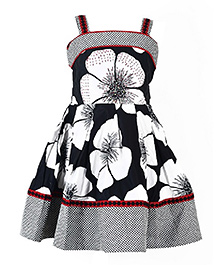 Marshmallow Flower Print Dress - Black