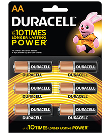 Duracell Alkaline Battery AA 6's With Duralock Technology
