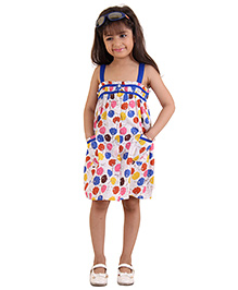 Kids On Board Floral Print Strap Dress - Multicolour