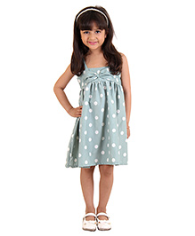 Kids On Board Polka Dot Dress - Pastel Green