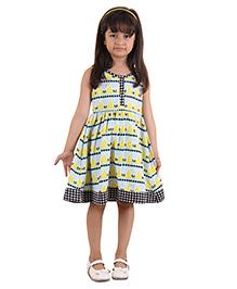 Kids On Board Geometric Print Dress - Multicolor