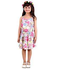 Kids On Board Casual Floral Dress - Multicolor